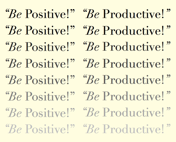 positivity and productivity during a pandemic
