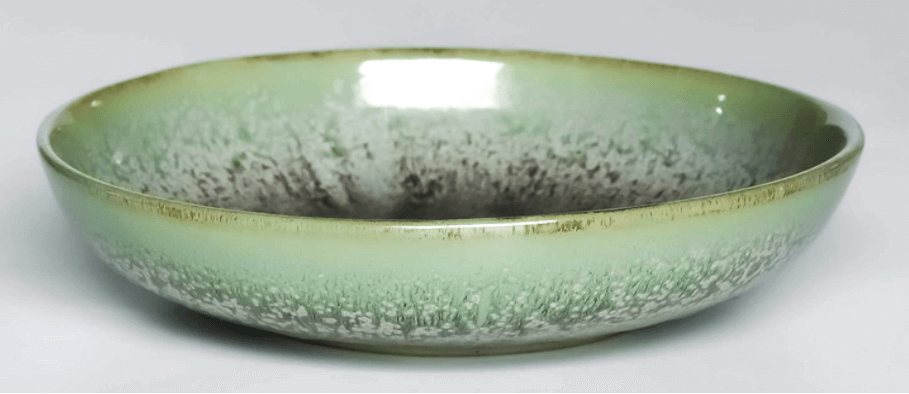 Green ceramic salad bowl - Christmas gift ideas for women.
