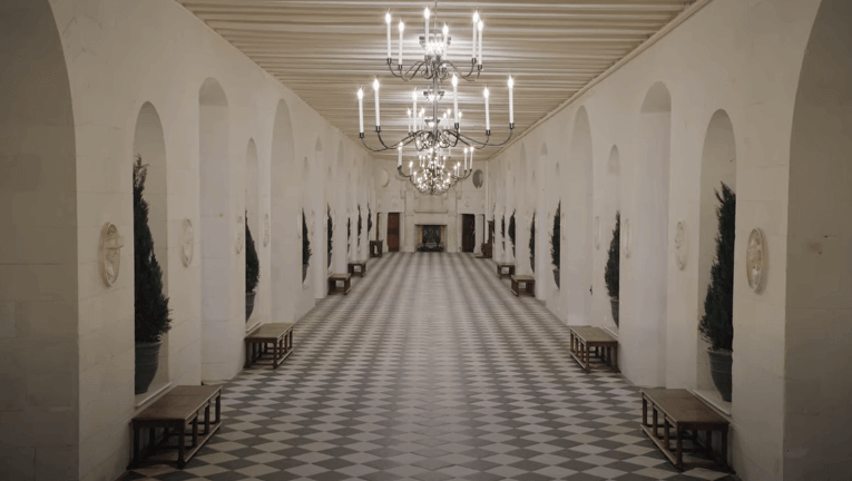 Inside the Château de Chenonceau for the Chanel Fashion Show.