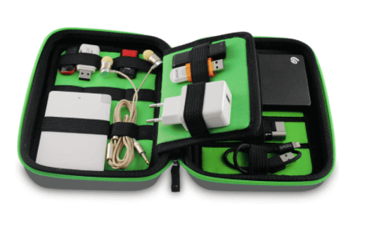 Gadget organizer as a Christmas gift for men.