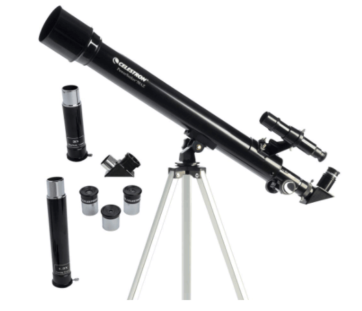 Telescope with a stand as a Christmas gift idea for men.