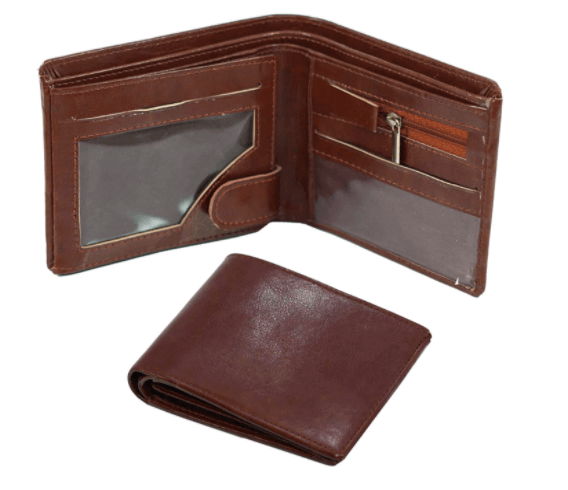 Brown PU Leather wallet as a Christmas gift for dads.