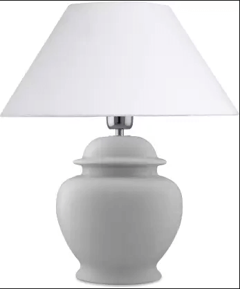 Elegant white bedside lamp - Christmas gift ideas for women.