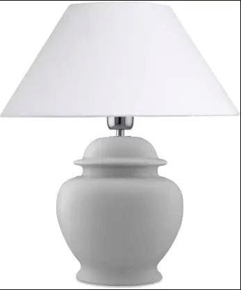 Elegant white bedside lamp - Christmas gift ideas for women.
